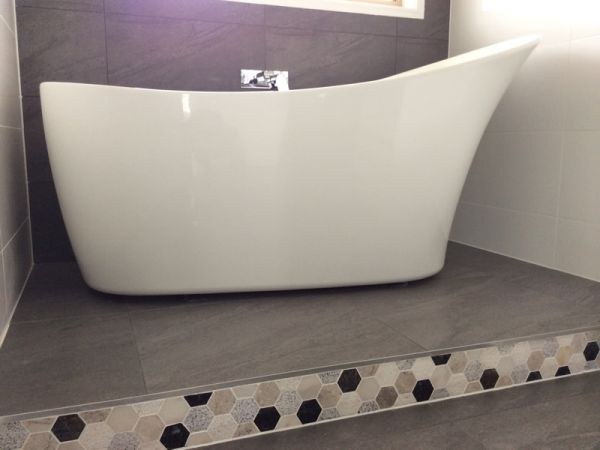 bathroom renovation free standing bath sunshine coast